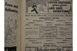1937-38 ASTON VILLA BOUND VOLUME