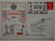 ARSENAL 1970-71 DOUBLE WINNERS POSTAL COVER SIGNED BY BOB WILSON