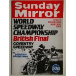 SPEEDWAY - 1984 WORLD CHAMPIONSHIP BRITISH FINAL AT COVENTRY PROGRAMME & TICKET