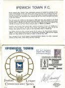IPSWICH FDC 10TH ANNIVERSARY LEAGUE CHAMPIONS SIGNED BY ALF RAMSEY