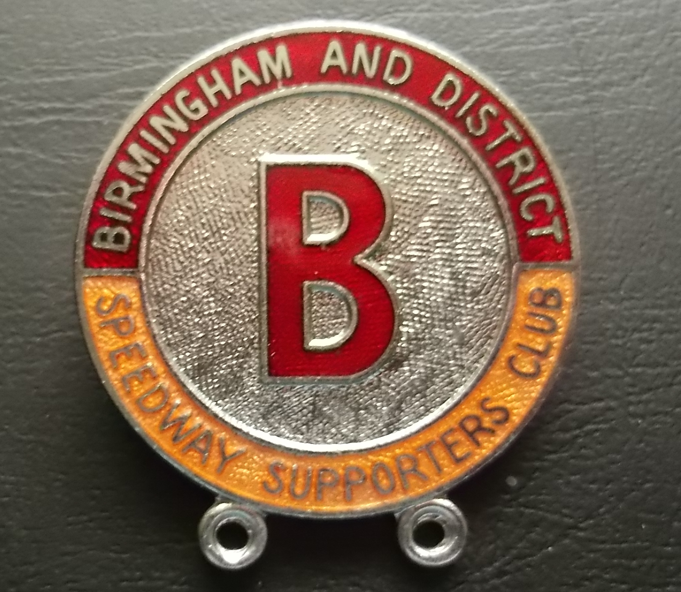 Lot 27 - SPEEDWAY - BIRMINGHAM SUPPORTERS CLUB BADGE