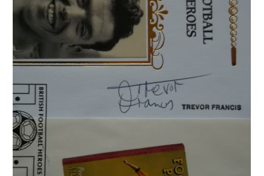 FOOTBALL HEROES POSTAL COVER AUTOGRAPHED BY TREVOR FRANCIS - BIRMINGHAM, N.FOREST - Image 2 of 2