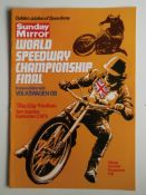 SPEEDWAY - 1978 WORLD CHAMPIONSHIP FINAL AT WEMBLEY PROGRAMME + TICKET