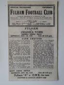 1945-46 FULHAM V SWANSEA TOWN