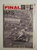 SPEEDWAY - 1976 WORLD CHAMPIONSHIP FINAL IN POLAND PROGRAMME + TICKET