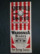 1945-46 SHEFFIELD UNITED V BLACKBURN ROVERS