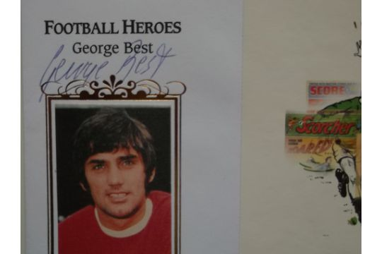 FOOTBALL HEROES LIMITED EDITION POSTAL COVER AUTOGRAPHED BY GEORGE BEST - MANCHESTER UNITED - Image 2 of 2