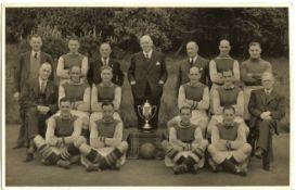 ASTON VILLA 1943 WAR CUP WINNERS TEAM GROUP PRESS PHOTOGRAPH