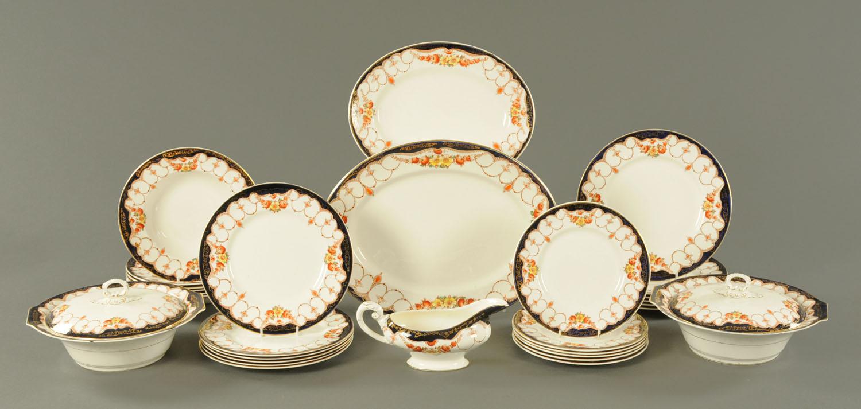 Lot 34 - A Myott Son & Co rosemary pattern 29 piece dinner service.
