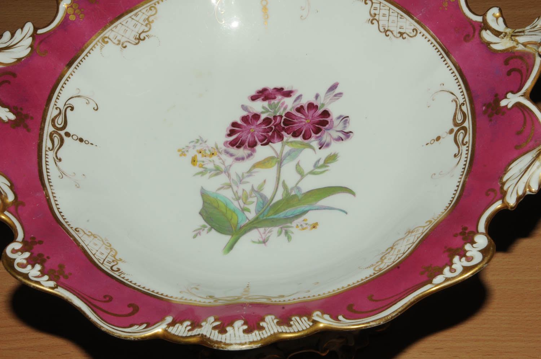 Lot 57 - A John Ridgway part dessert service, early 19th century,