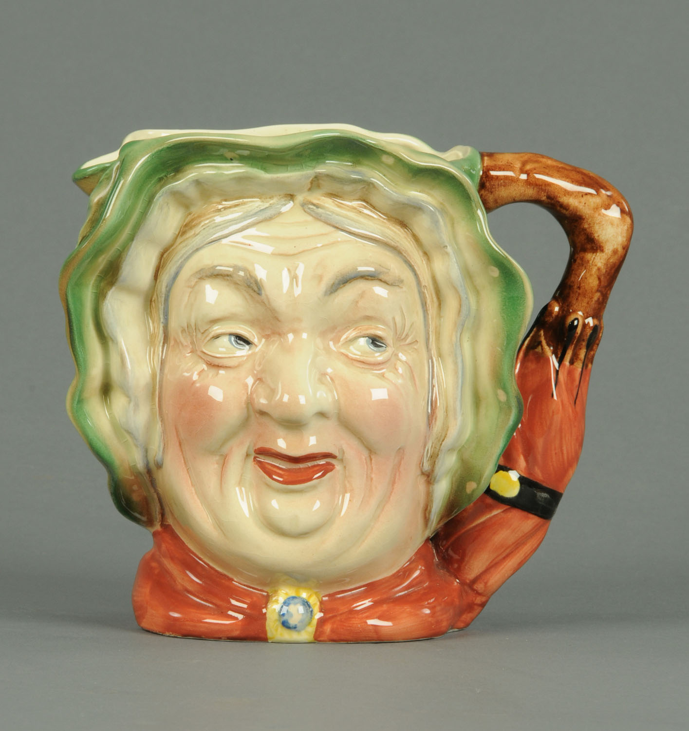 "Lot 3 - A Beswick character jug, ""Sairey Gamp"" impressed 371 and with black printed mark."