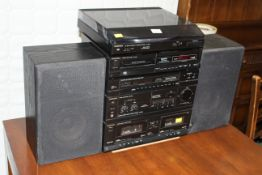 Technics sound system with two speakers