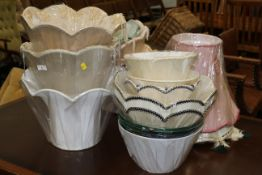 Assorted new lamp shades