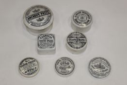 Pot lids to include a Tom Redfern Chemist Penrith Cold Cream