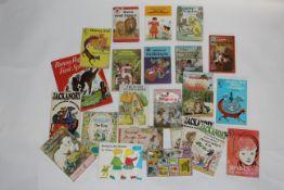 A small box of children's books,