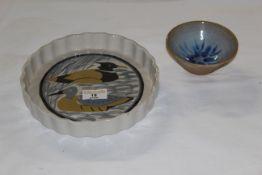 A Royal Academy of Arts pottery flan dish,