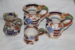 Ten pieces of Victorian and later pottery including Masons hydra jug,