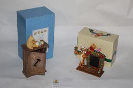 A Border Fine Arts studio resin figure - Winnie the Pooh - The key cabinet, ref A0046,