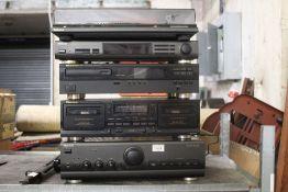 A mixed stacking hi-fi system, comprisin