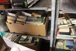 A large quantity of decorative books.