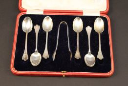 A set of six early 20th century silver t