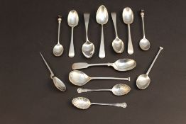Silver spoons, all hallmarked, varying a