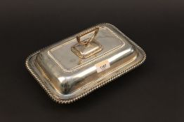 An early 20th century silver entree dish