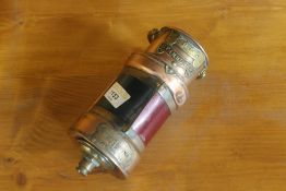A Victorian copper ships lamp by Simpson