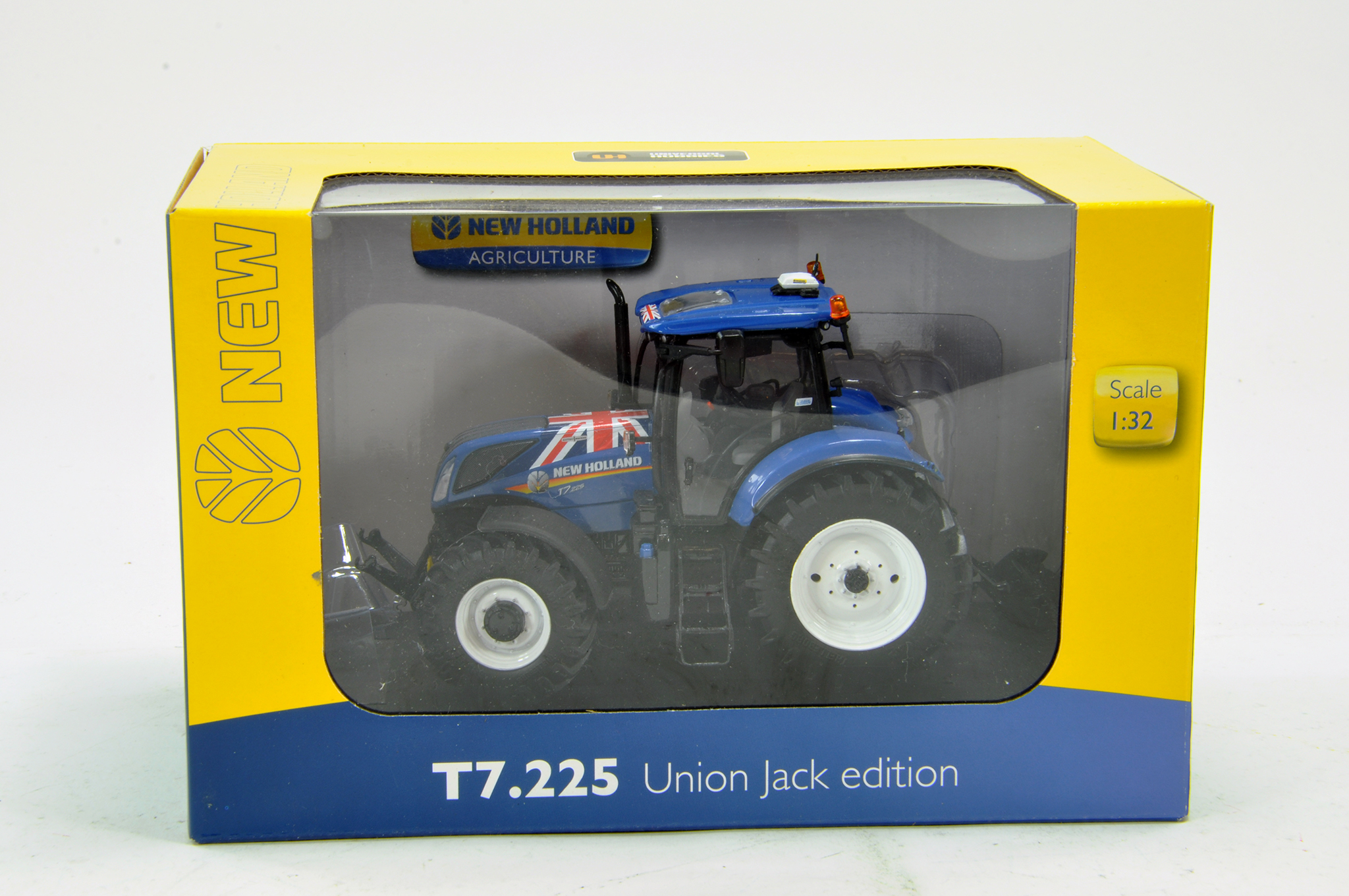 Lot 767 - Universal Hobbies 1/32 New Holland T7.225 Union Jack Tractor. Excellent in Box.