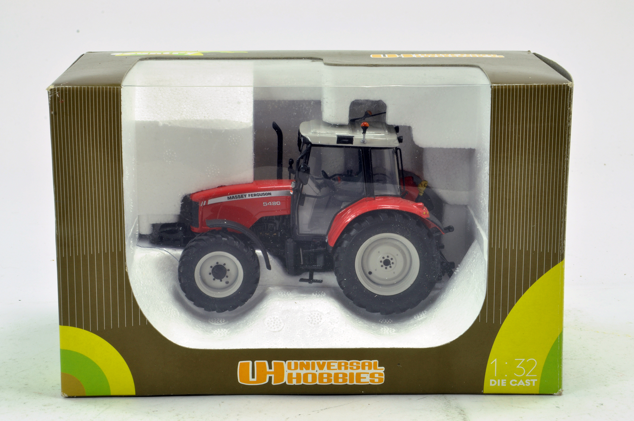 Lot 809 - Universal Hobbies 1/32 Massey Ferguson 5480 Tractor. Excellent in Box.
