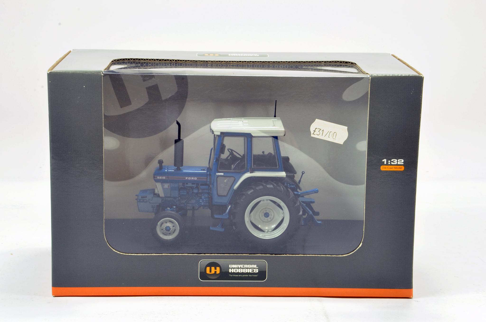 Lot 159 - Universal hobbies 1/32 Ford 5610 GEN III 2WD Tractor. Generally excellent in box.