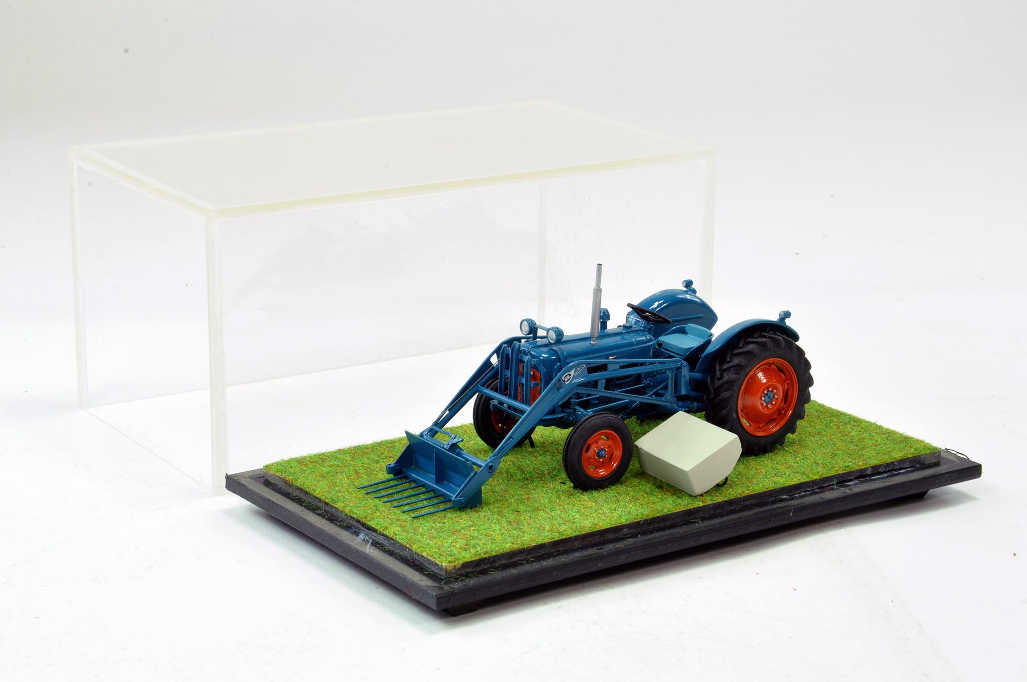 Lot 242 - Scaledown Models 1/32 Hand Built Fordson Super Dexta Tractor with Scratch Built Mil Loader. Superb