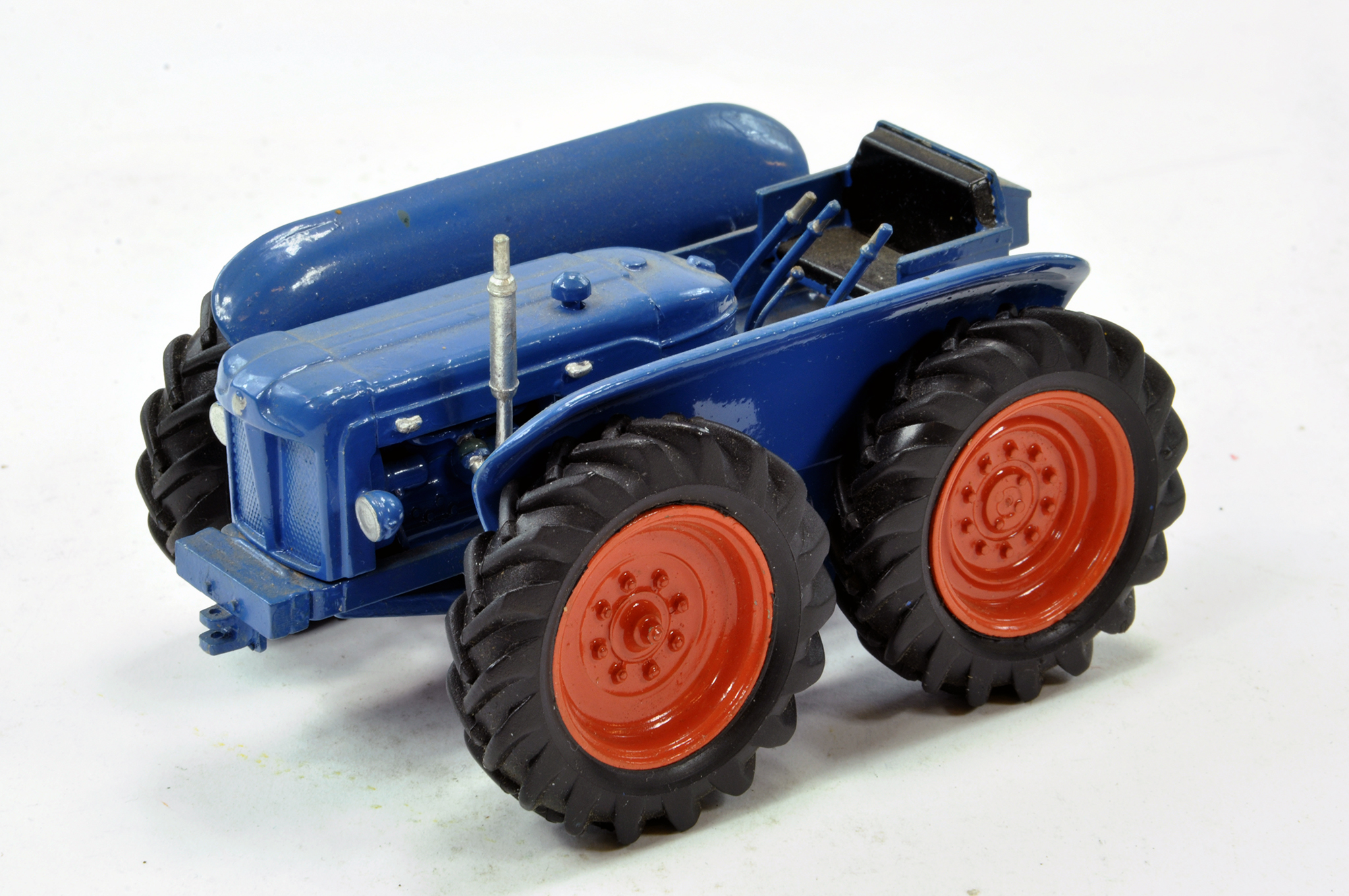 Lot 217 - Scaledown 1/32 Hand Built Fordson County Tractor. Light repair to glue bonnet needed but otherwise