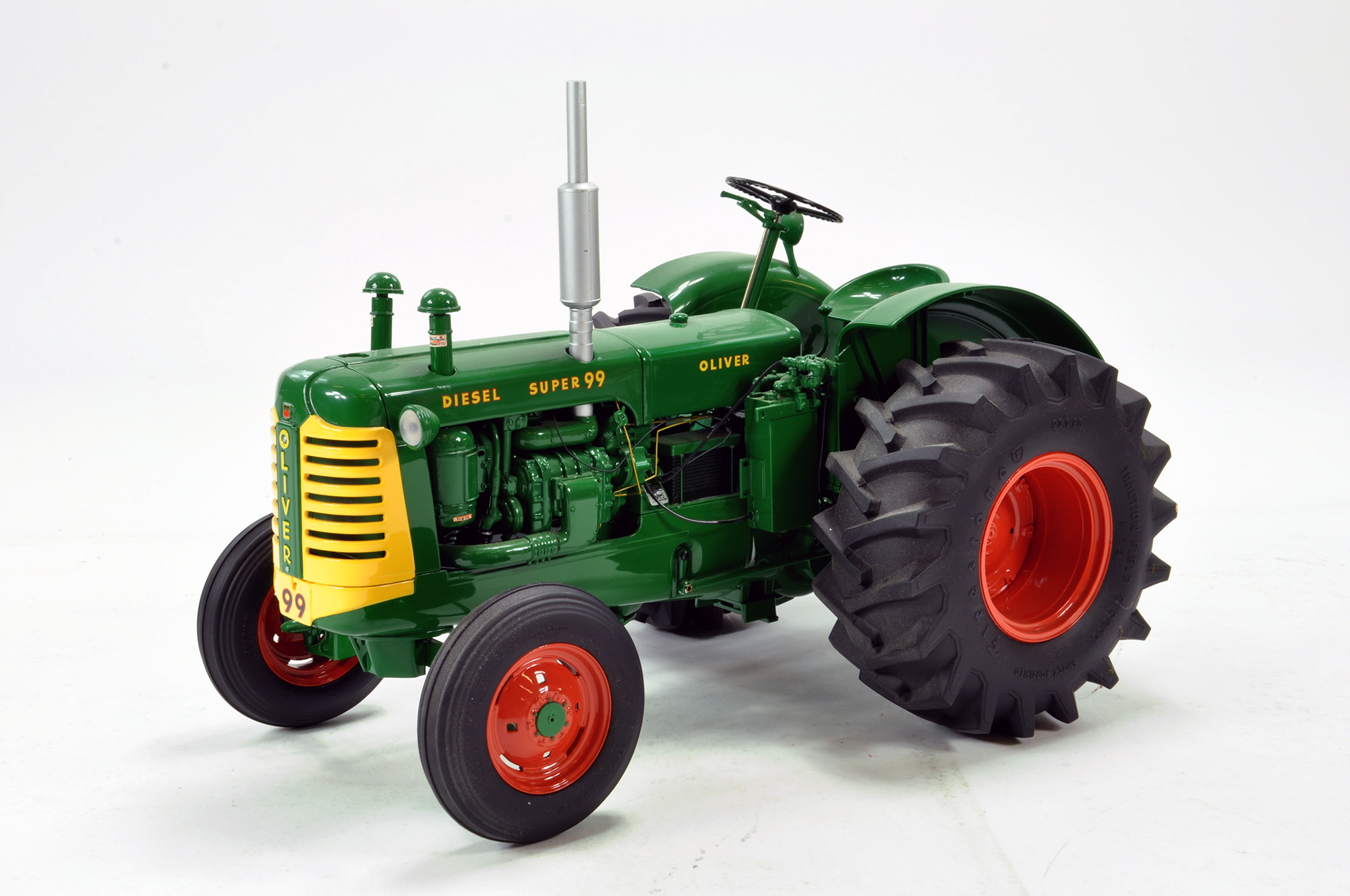 Lot 546 - Franklin Mint 1/12 Precision Issue Oliver Super 99 Diesel Tractor. Excellent.
