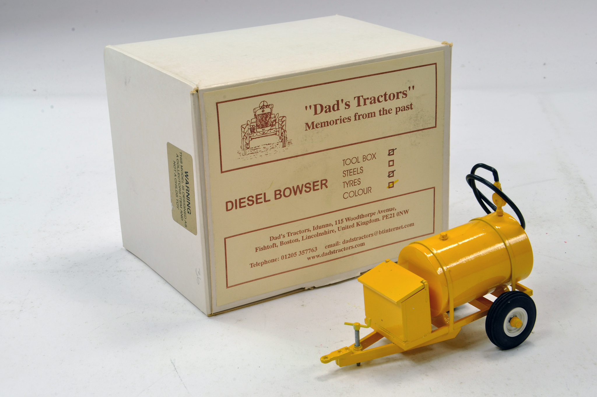 Lot 225 - Dads Tractors 1/32 Hand Built Diesel Bowser. Excellent.
