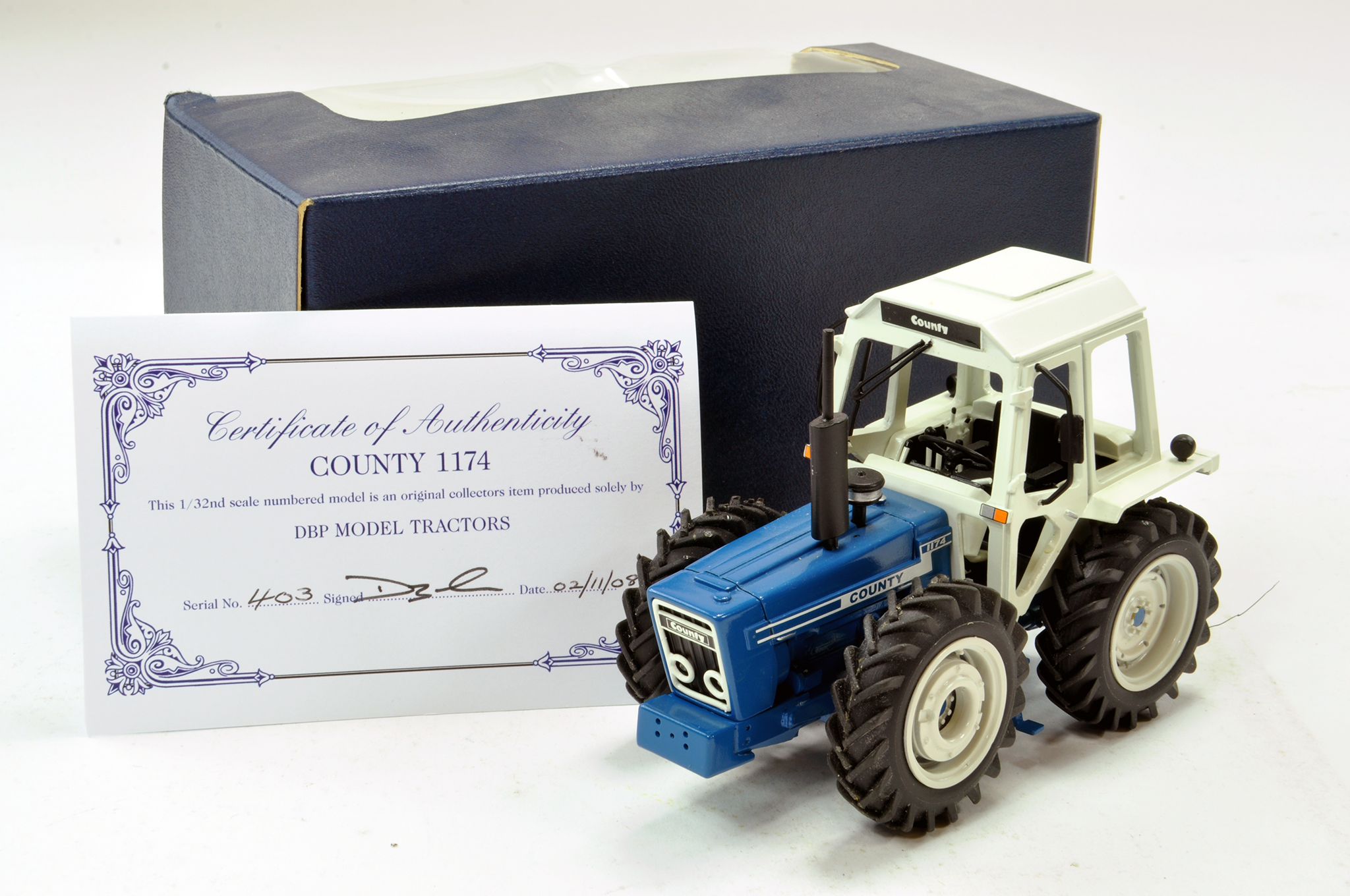 Lot 248 - DBP Models 1/32 Hand Built County 1174 Tractor. Superb model is excellent.