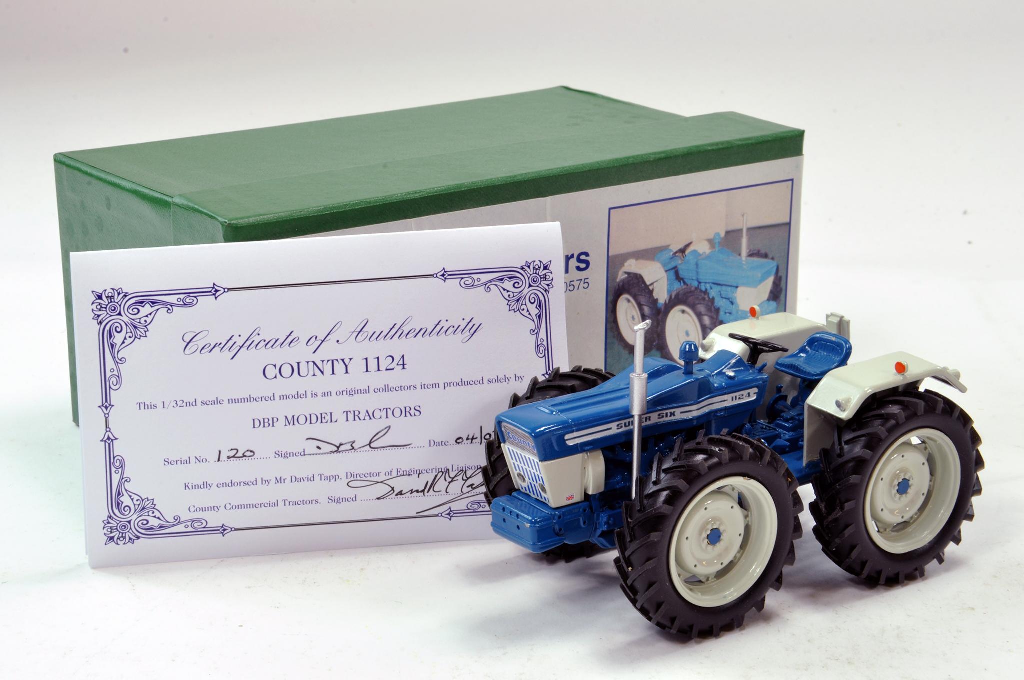 Lot 249 - DBP Models 1/32 Hand Built County 1124 Super Six Tractor. Superb model is excellent.