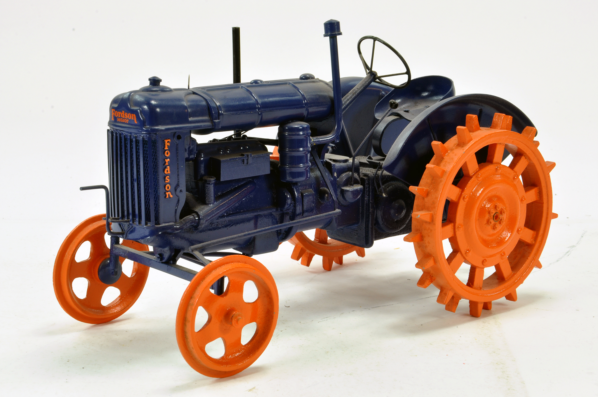 Lot 556 - Mike Karslake 1/12 Hand Built Fordson Major E27N Tractor on Metal Wheels. This very special