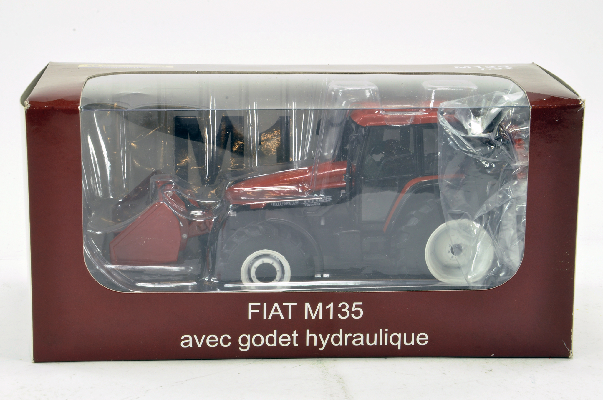 Lot 797 - Replicagri 1/32 Fiat M135 Tractor with front bucket. Excellent in Box.