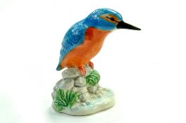 ". John Beswick Kingfisher- JBB8 - 3 ¾"" – 9.5cm - Blue/Orange – Gloss - No Faults. Note: We are happy"