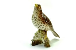 "Beswick Songthrush Model No. 2308 5 ¾"" – 14.6cm - Brown with speckled breast – Gloss. No Faults."