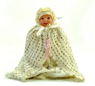 "Antique 8"" Schutz-Marke doll circa 1900-1910. Celluloid baby doll, Markings of ""turtle 1 19"