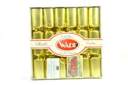 Wade Collectable Limited Edition Crackers - Colour Gold x 6 containing Whimsies Note: We are happy
