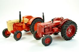 Ertl 1/16 diecast farm issue duo comprising Case 600 Tractor plus McCormick WD-9. Generally