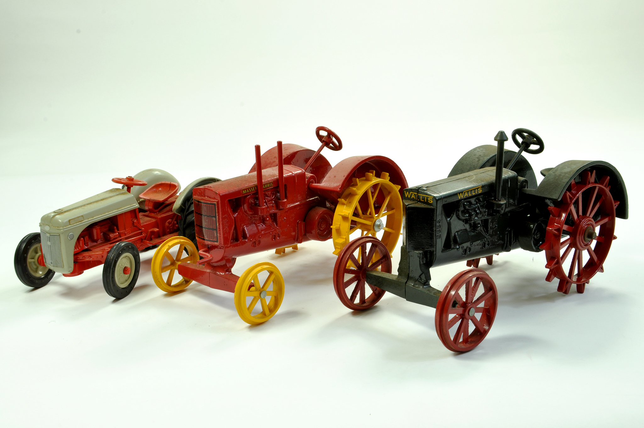 Lot 33 - Scale Models 1/16 Vintage Wallis Tractor plus Massey Harris and a vintage Ford Tractor. Generally