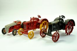 Scale Models 1/16 Vintage Wallis Tractor plus Massey Harris and a vintage Ford Tractor. Generally