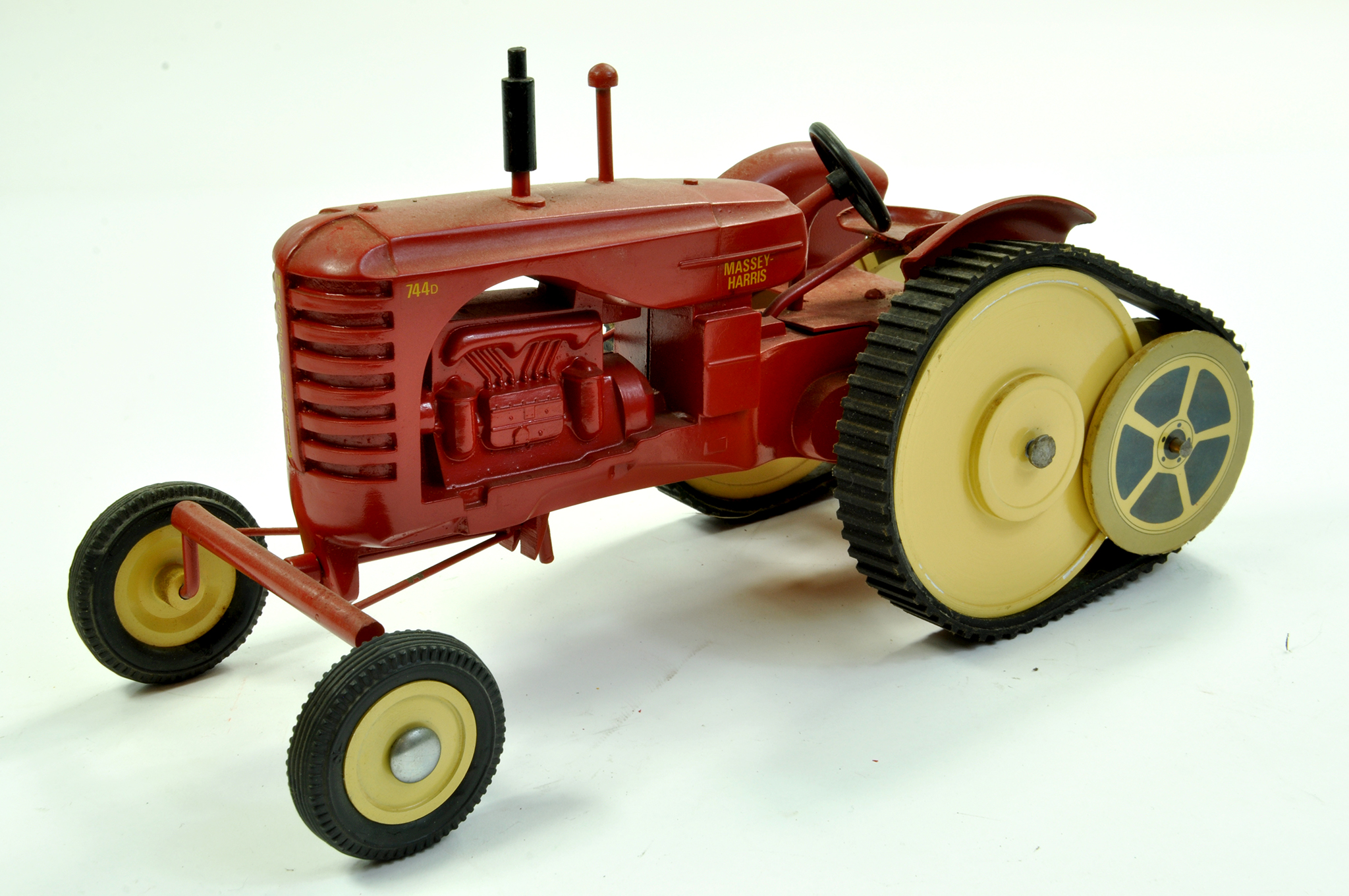 Lot 31 - Marbil Models 1/16 Massey Harris 744D Tractor on Half Tracks. Generally Excellent, a little dusty.