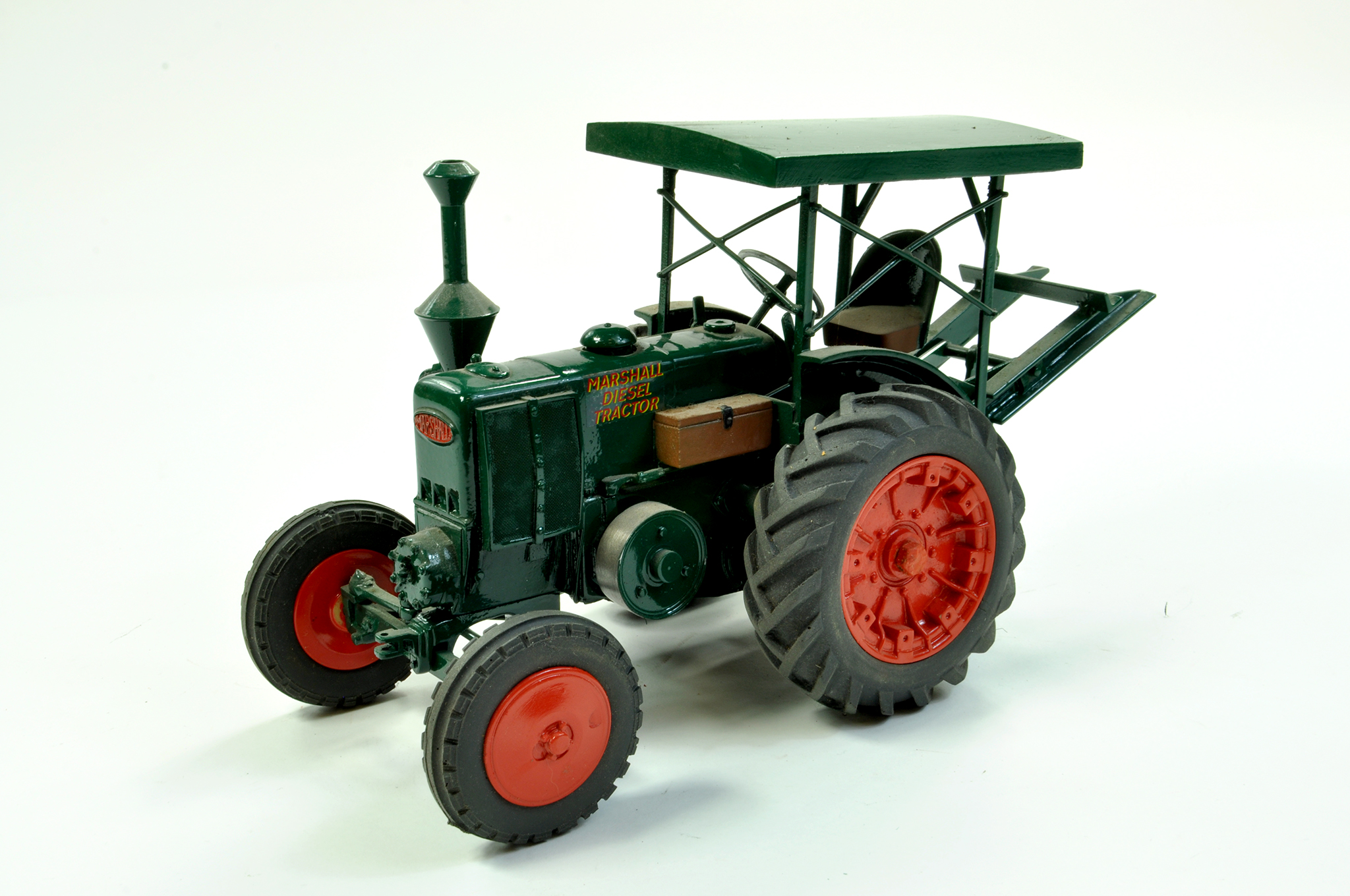 Lot 39 - CTF (France) 1/16 Marshall Model M Diesel Tractor with Canopy and Rear Winch. This exclusive piece
