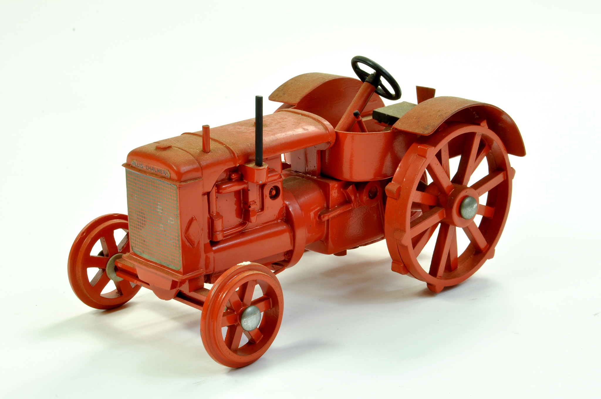 Lot 15 - Marbil Models 1/16 Allis Chalmers AC Vintage Tractor on Metal Wheels. Generally excellent however