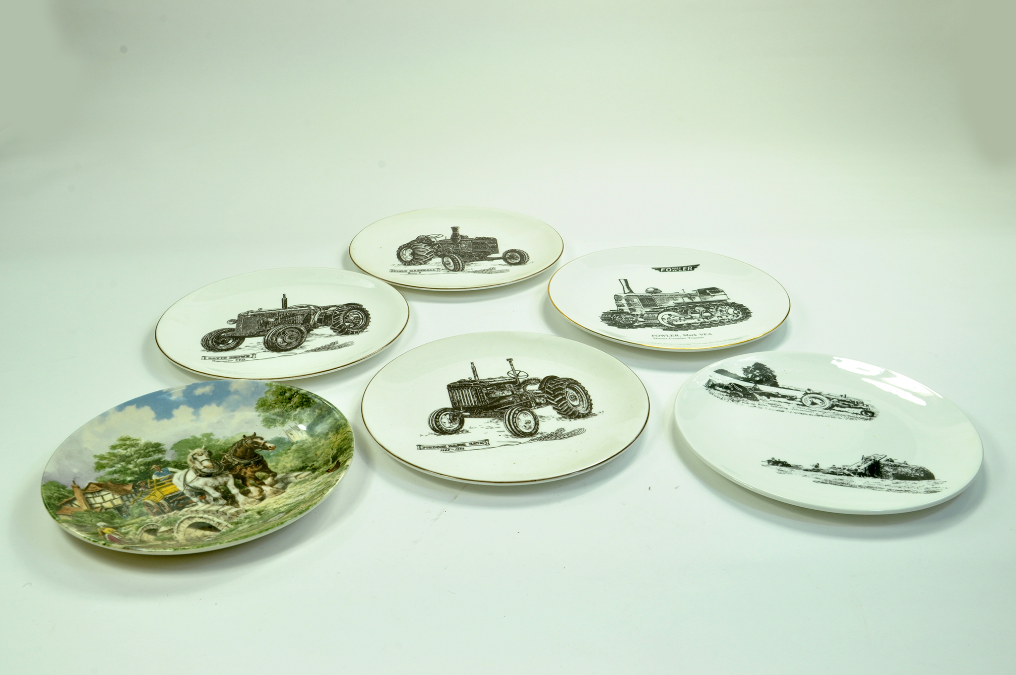 Lot 26 - Various tractor themed ceramic plates. Enhanced Condition Reports: We are more than happy to provide